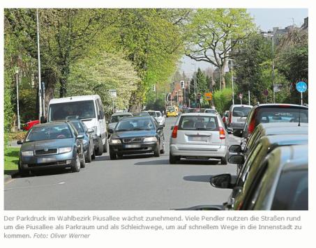 Fr., 04.04.2014: Wahlbezirk 4: Piusallee Bezahlbarer Wohnraum fehlt