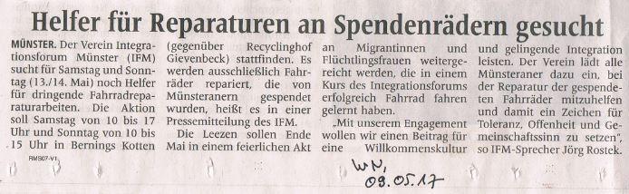 2017_05_09_WN_Helfer_fuer_Reparaturen_an_Spendenrädern_gesucht