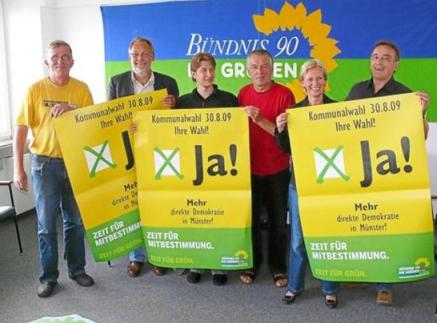 Fr., 14.08.2009, WN, Grüne werben mit Gelb