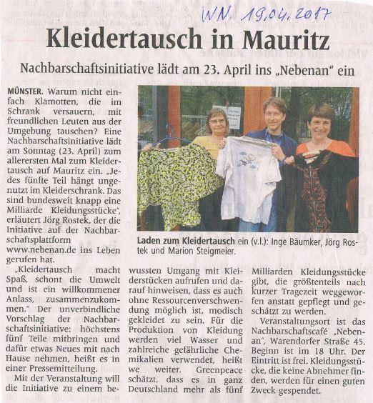 Kleidertausch auf Mauritz