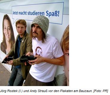 05.09.2008, Stadtmagazin Echo: AStA-Vertreter protestieren mit