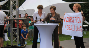 Rektorin und Fossil Free