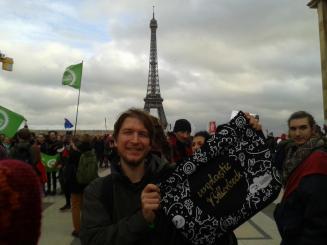 Mit der Unplastic Billerbeck-Stadttüte in Paris