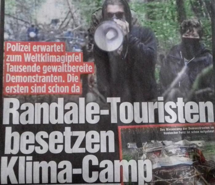 """BILD-Zeitung (heute) pöbelt gegen """"EndeGelände"""""""
